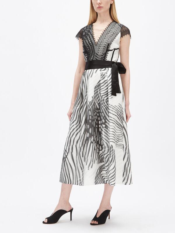 Moth Jacquard Cap Sleeve Dress