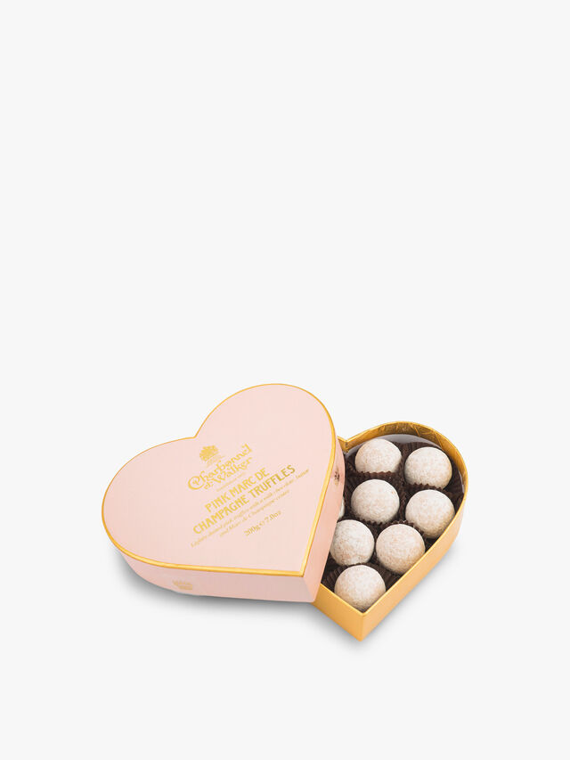Pink Marc De Champagne Heart Box