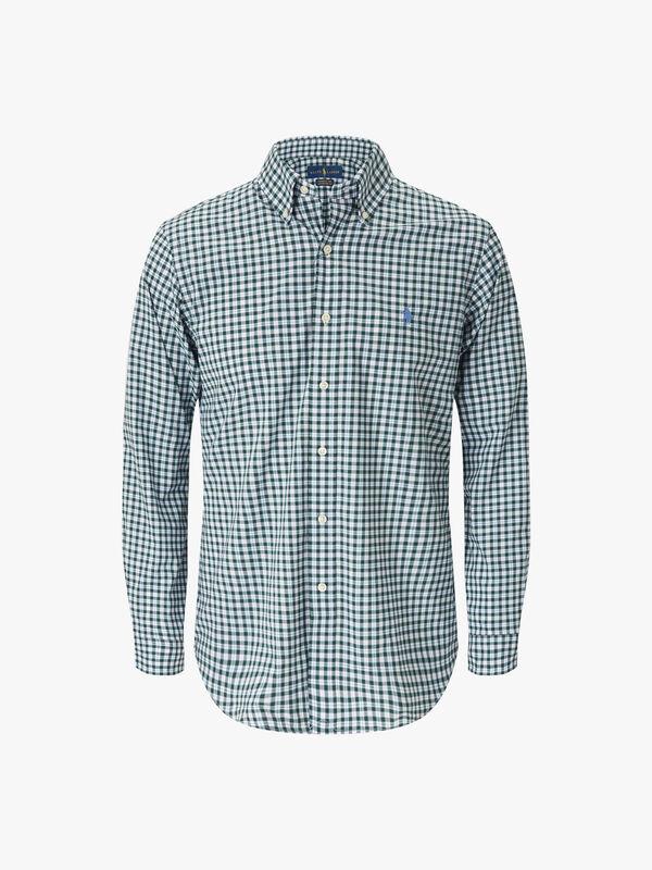 Custom Fit Plaid Stretch Shirt