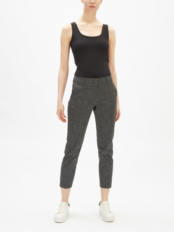 Kim Micro Pattern Stretch Trouser