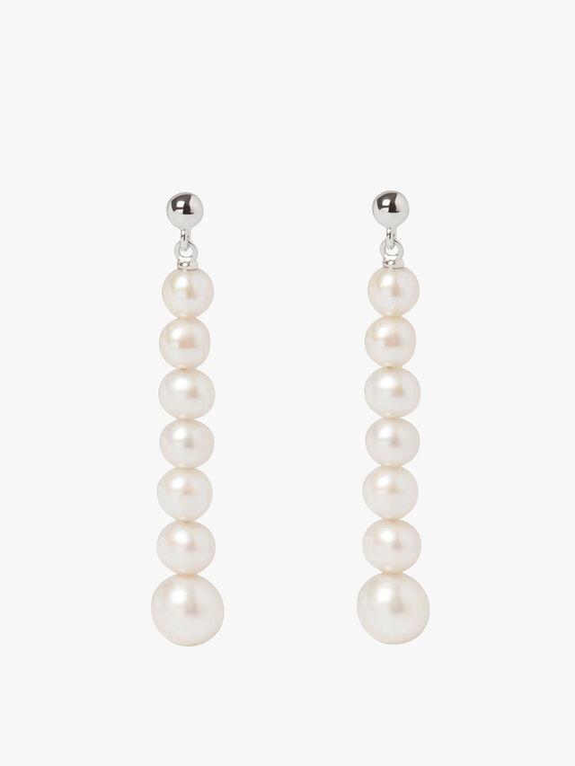 Stellar Multi Drop White Pearl Earrings
