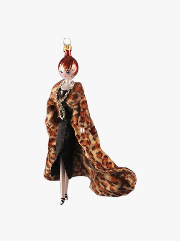Lady in Long Leopard Coat