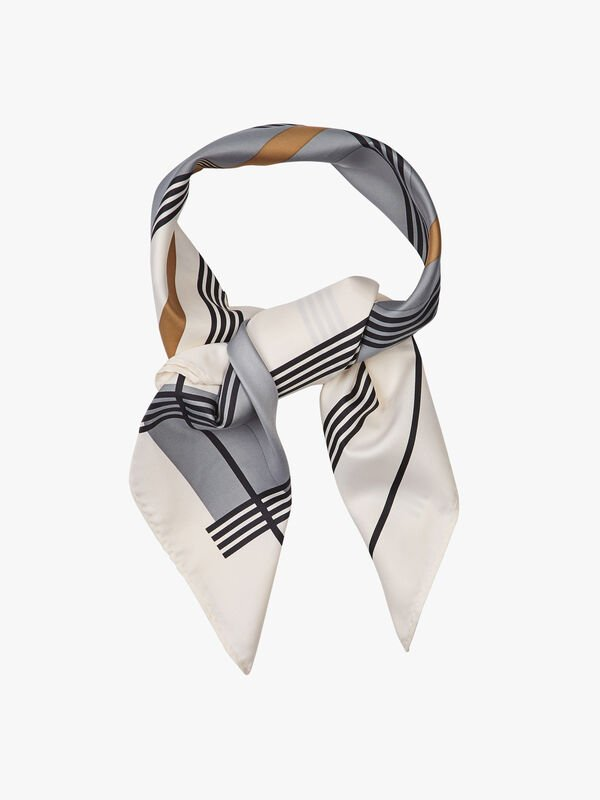 Check Square Scarf