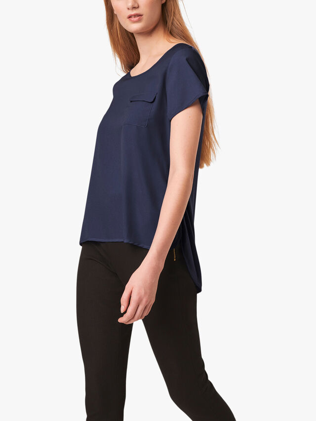 Crepe Light Pocket Tee