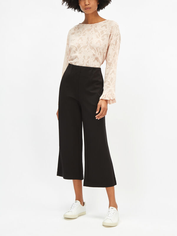 Piri Wide Crop Trousers