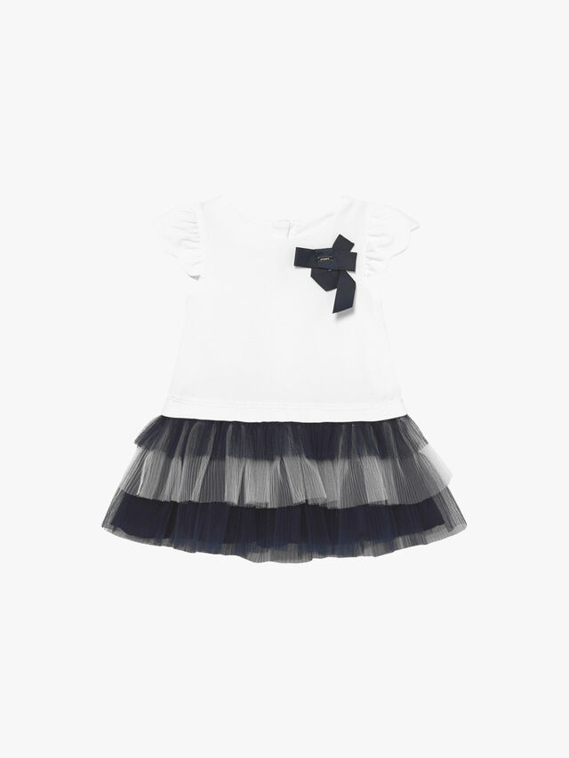 Tulle Layered Hem Dress