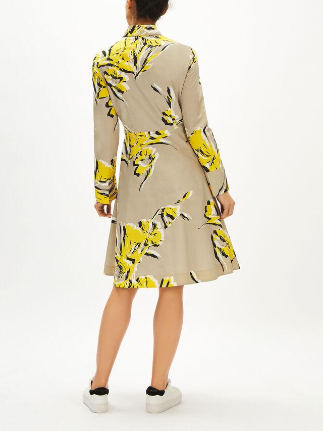 Floral Print Cotton Shirt Dress
