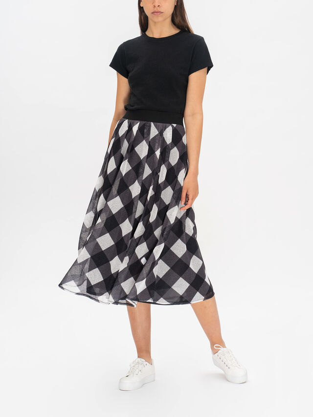 Ararat Printed Pleat Midi Skirt