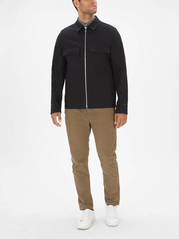 Pocket Chest Zip Jacket