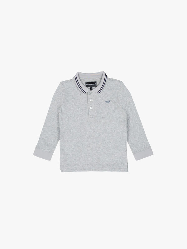 Long Sleeve Logo Polo Shirt