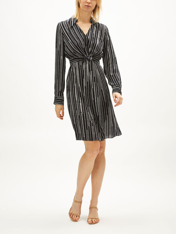 Saxon Stripe Dress With Tie Waist