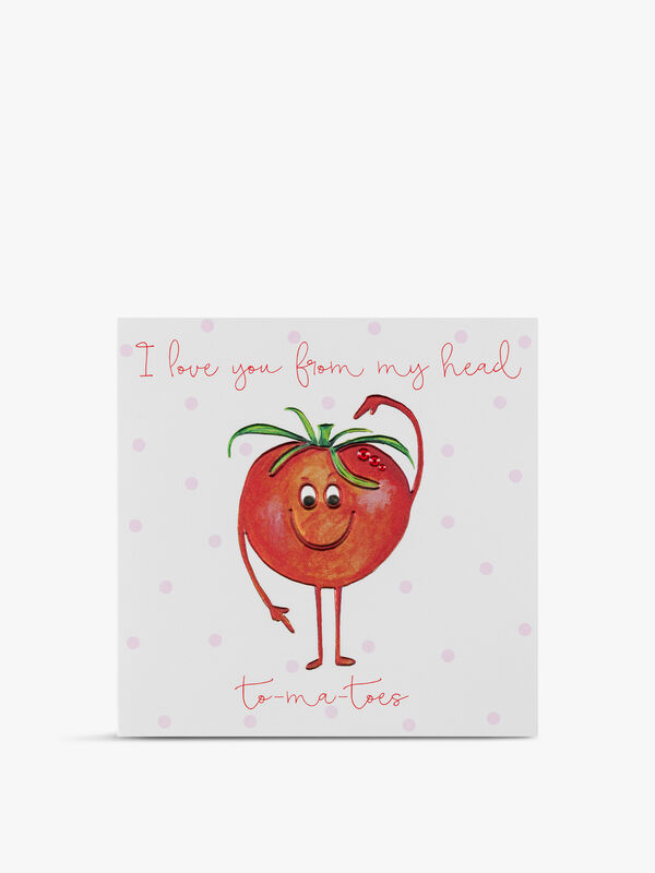 I Love You From My Head To My Toes Valentine's Day Card