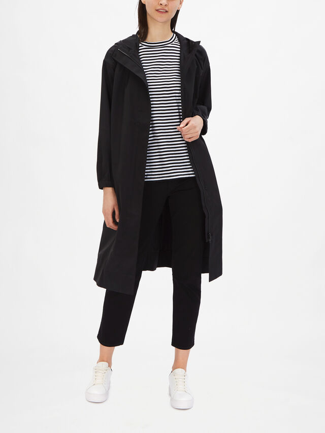 Recycled Organic Cotton Hooded Coat