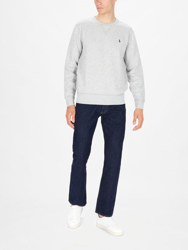 Crew Neck Fleece Sweater