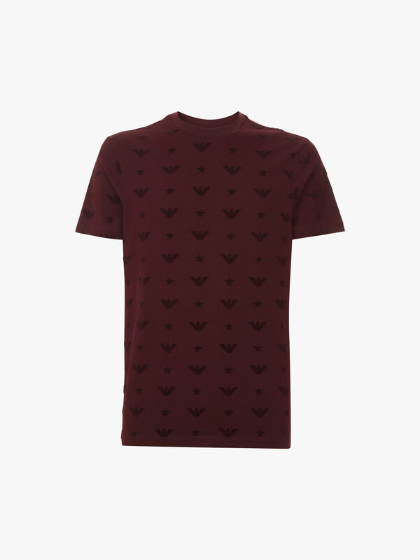 All Over Flocked T-Shirt