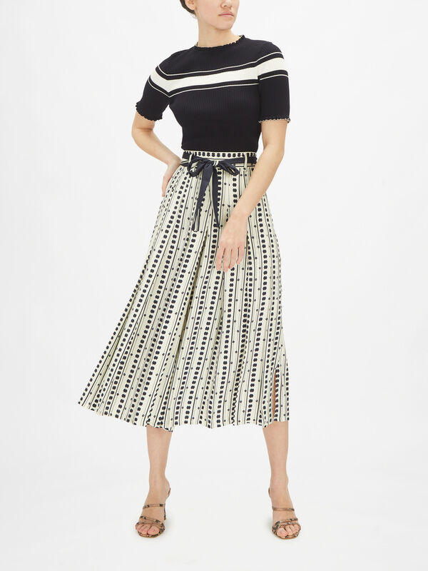 Jinger Maxi Spotty Skirt