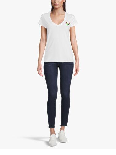 Multi-Colour-Foil-Slim-V-Neck-T-Shirt-204491