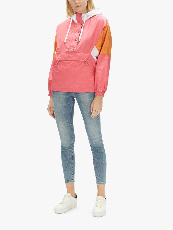 Colorblock Popover Jacket