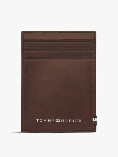 Polished Leather Vertical Credit Card Holder