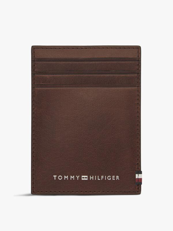 Polished Leather Vertical Credit Card Holder