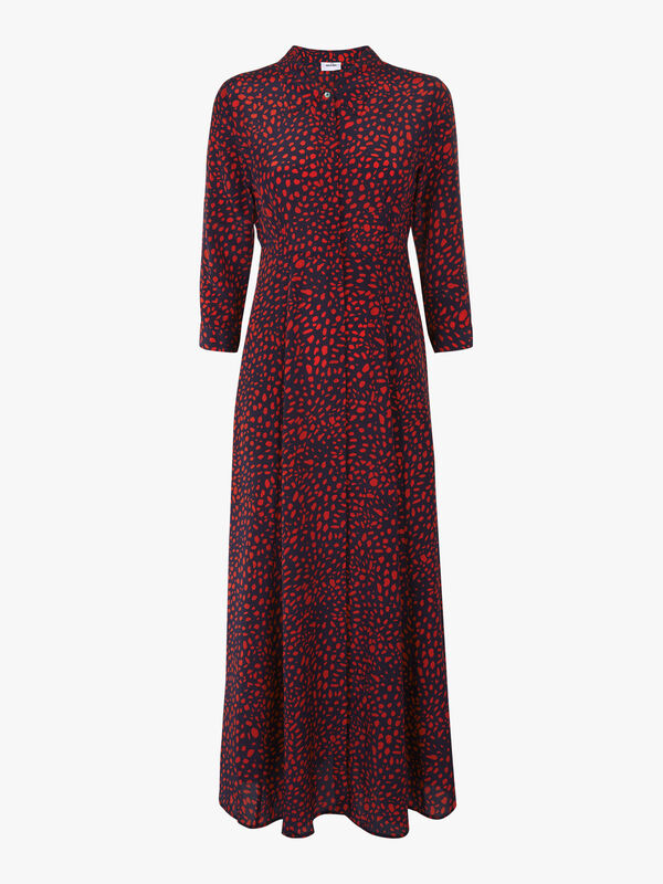 Rosedene ¾ Sleeve Maxi Shirt Dress