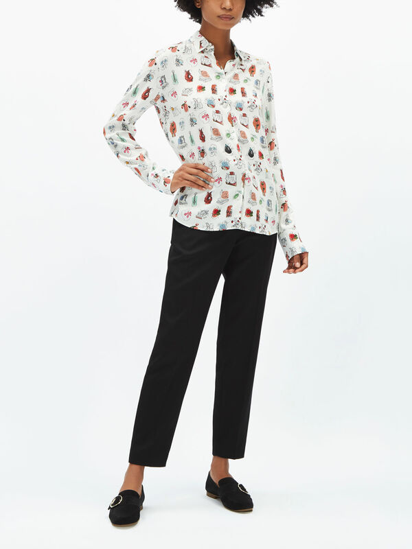 Fenwick Exclusive Poplin Cotton Print Shirt