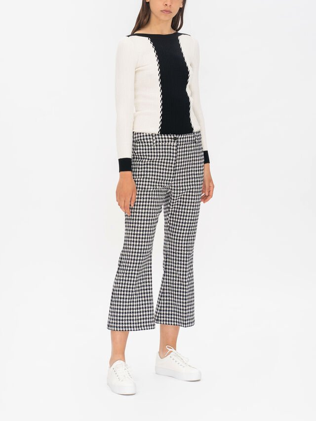 Quotato Cropped Kick Flare Trouser