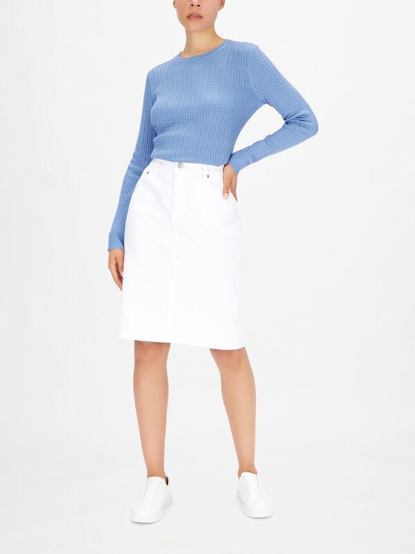 Daniela Denim Fitted Skirt