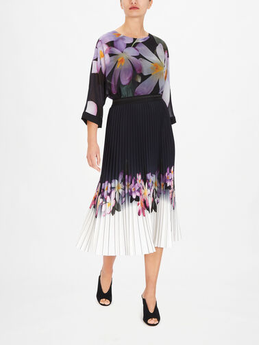 Flower-Print-Hem-Pleated-Midi-Skirt-211956
