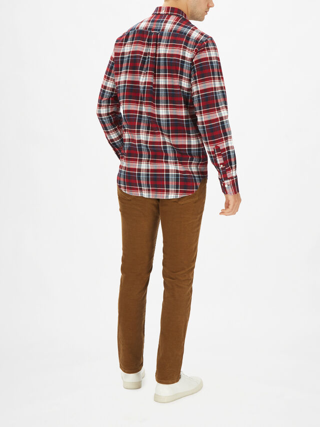 Brushed Oxford Plaid Shirt