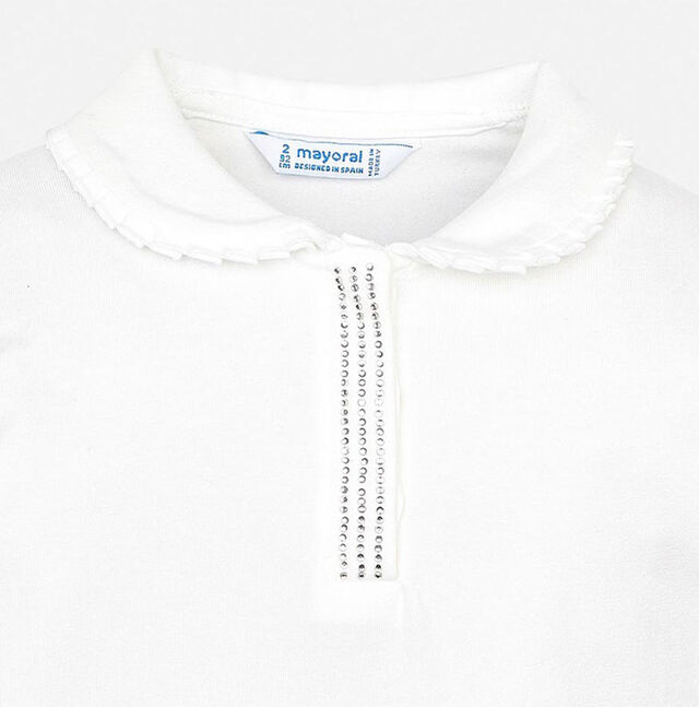 Embellished Jersey Polo Top