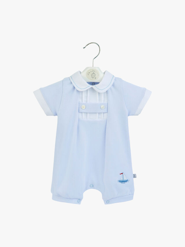 Sailor Romper with Collar