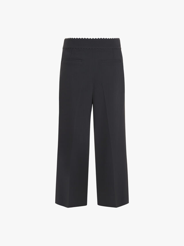 Wide Leg Front Pocket Trouser