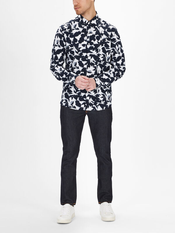 Slim Large Floral Shirt