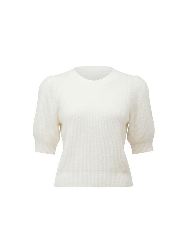Carina Brushed Puff Sleeve Knit Tee
