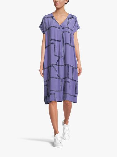 Odetto-V-Neck-SSlv-Chain-Print-Midi-Dress-1003787