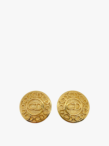 Vintage Dior CD Logo Button Earrings