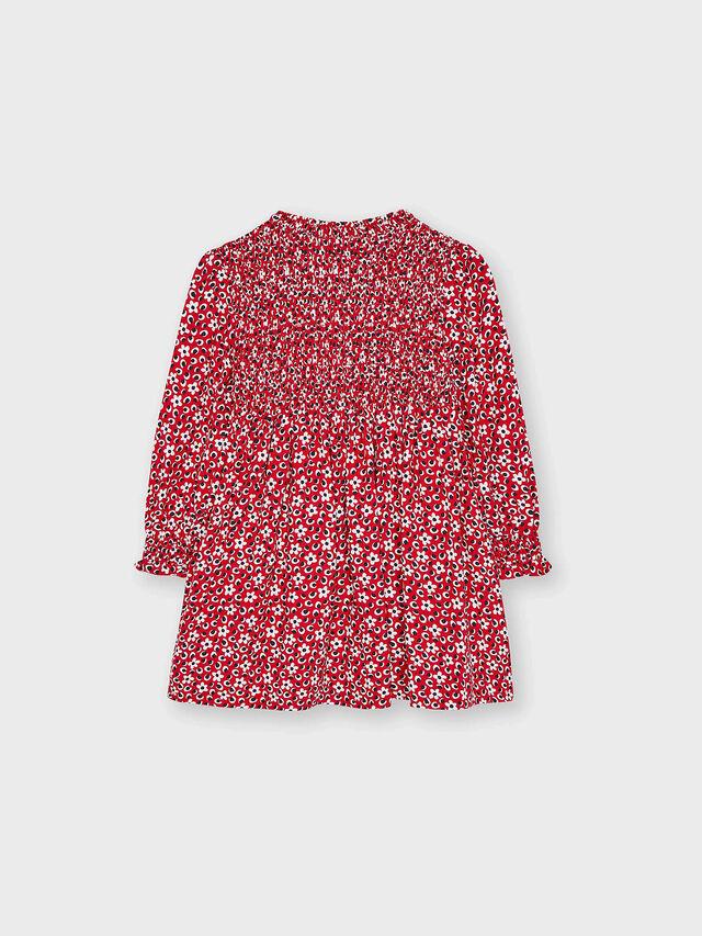 Flower Print Dress with smock