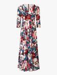 Padella Floral Pattern Maxi Dress