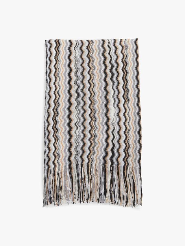 Classic Fine Knit Zig Zag Scarf