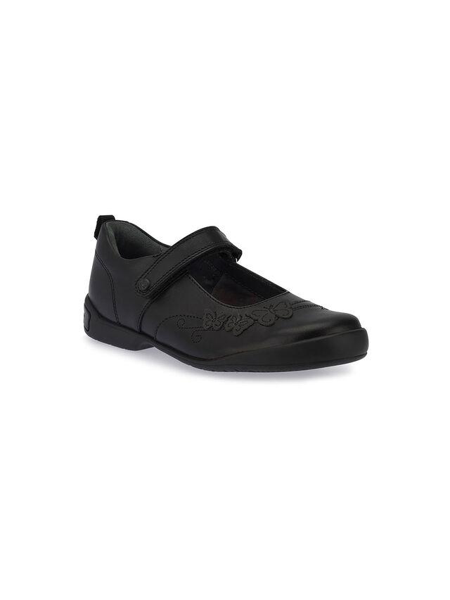 Pump Black Leather School Shoes