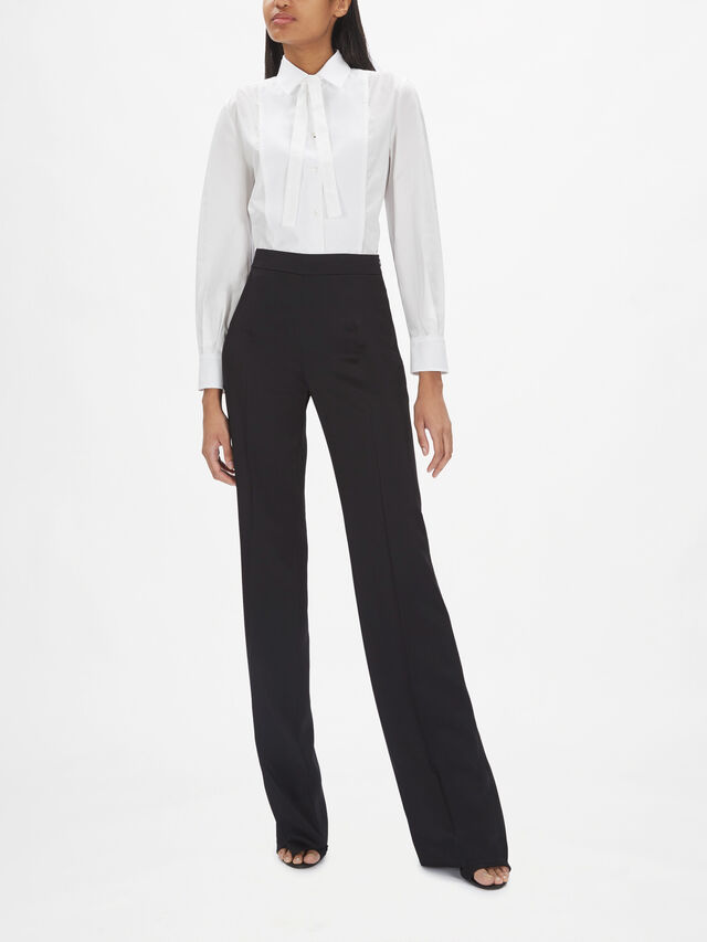 Davina Flared Satin Detail Trousers