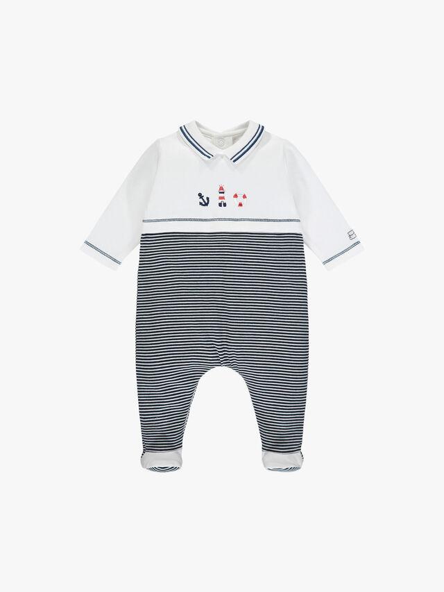 Nautical Embroidered Baby Grow