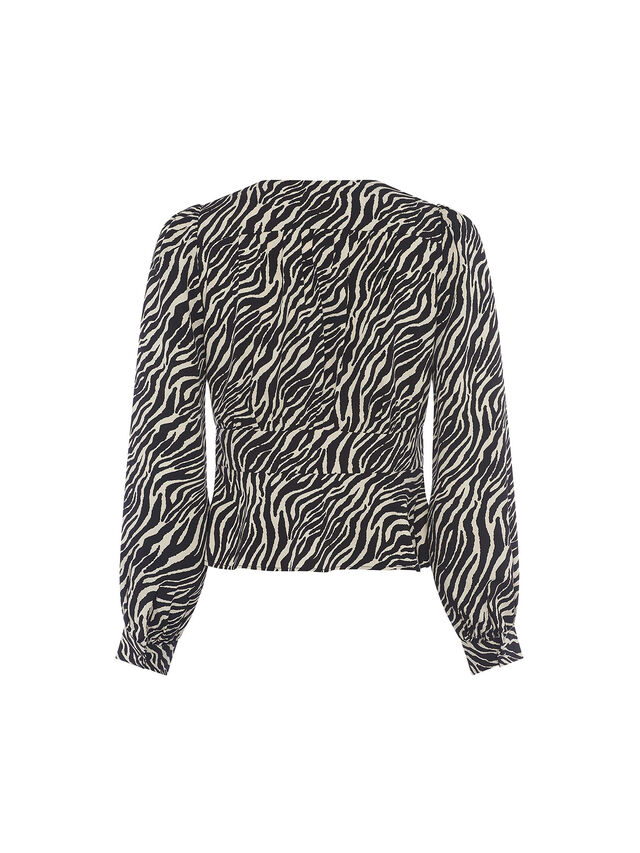 Geriel Zebra Fitted Waist Top