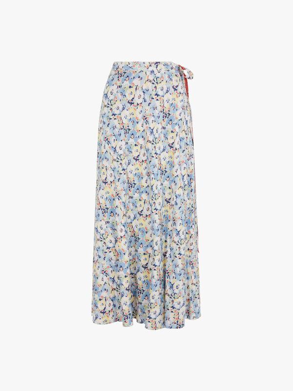 Lye Printed Maxi Wrap Skirt