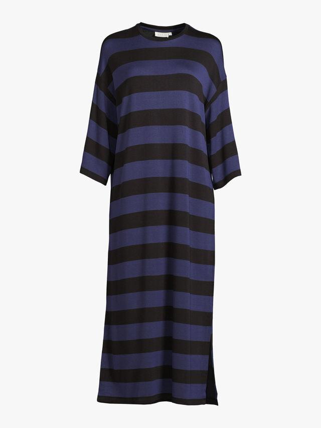 Narita Drop Shoulder Block Stripe Maxi Dress
