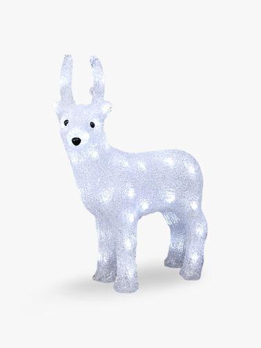 LED Acrylic Reindeer 38cm