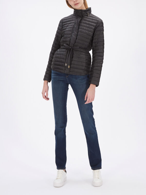 Belted Packable Puffer Jacket
