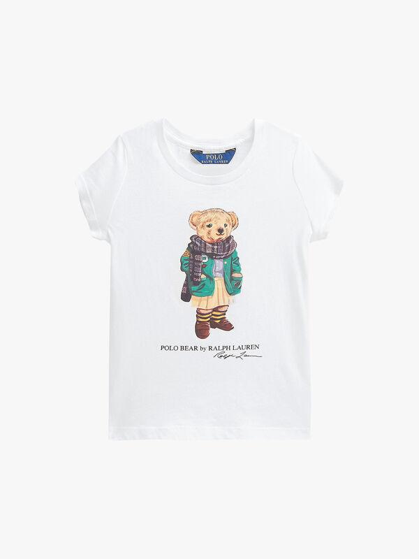 Cotton Jersey Bear T-Shirt