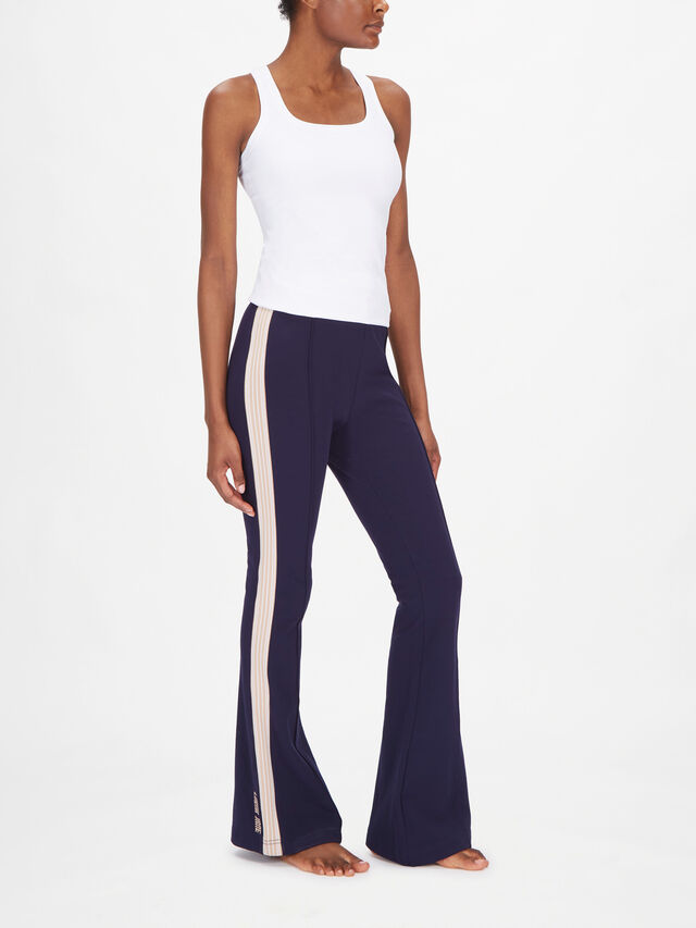 Modern Muse Side Panel Track Flared Trousers